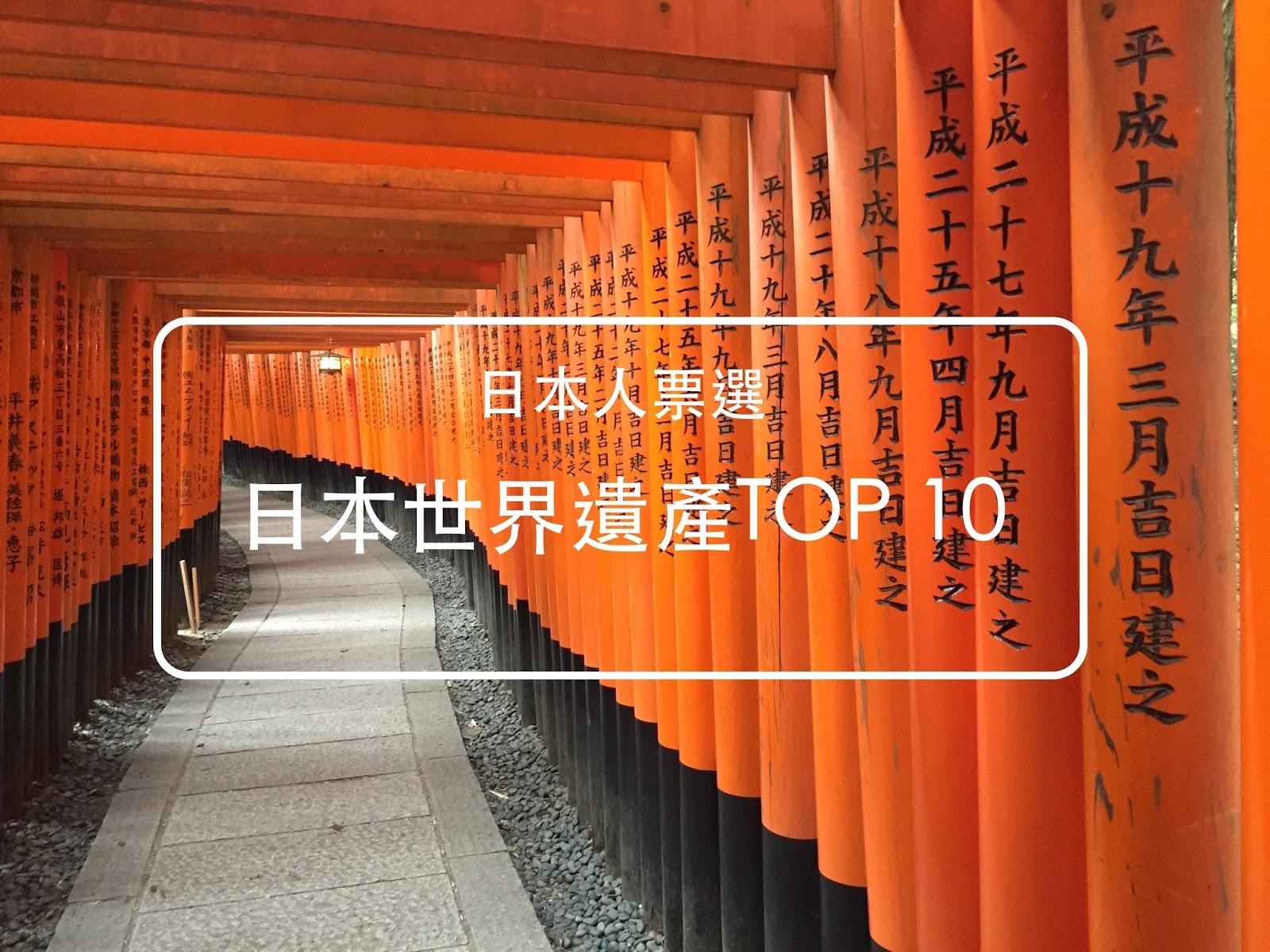 日本人心中的【世界遺產TOP 10 】,你都去過了嗎?來到日本,千萬別錯過了!