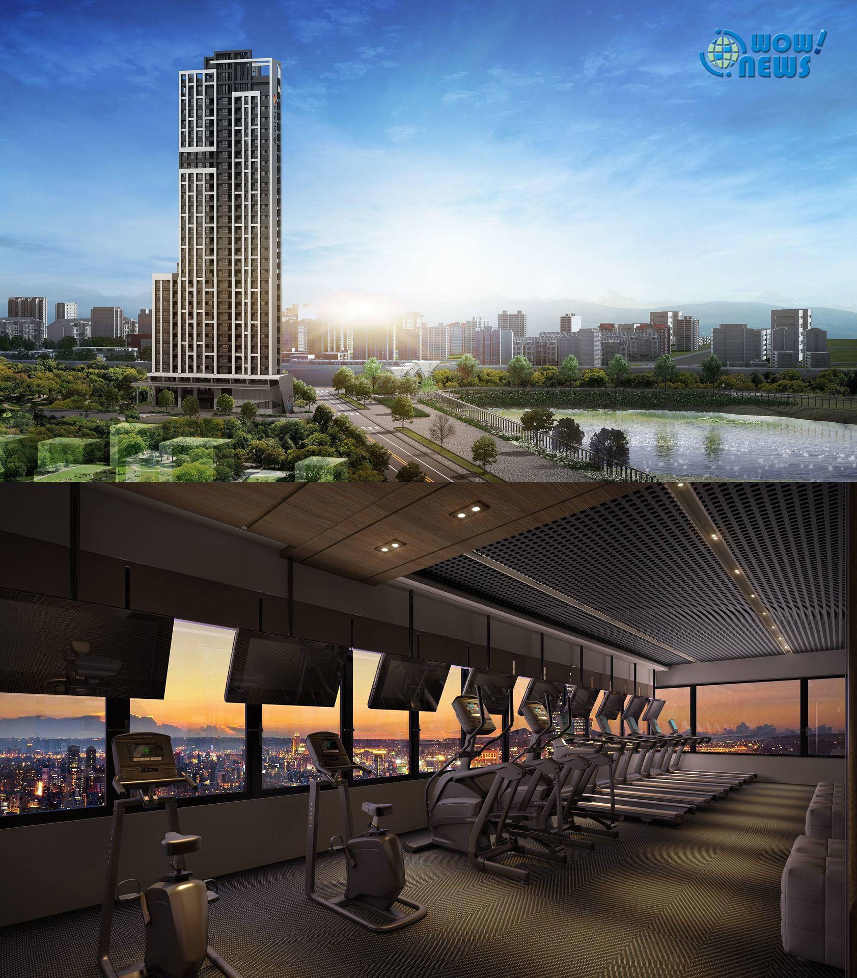 林口A7最高規格豪宅「欣時代」 區內唯一日系制震空中休閒會館