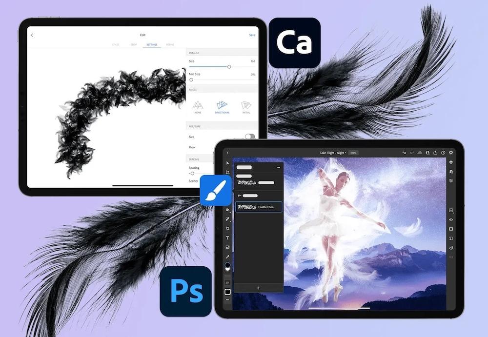 遠距辦公周邊正夯!通路推線上安心購 iPad版Photoshop自訂筆刷創作更自在