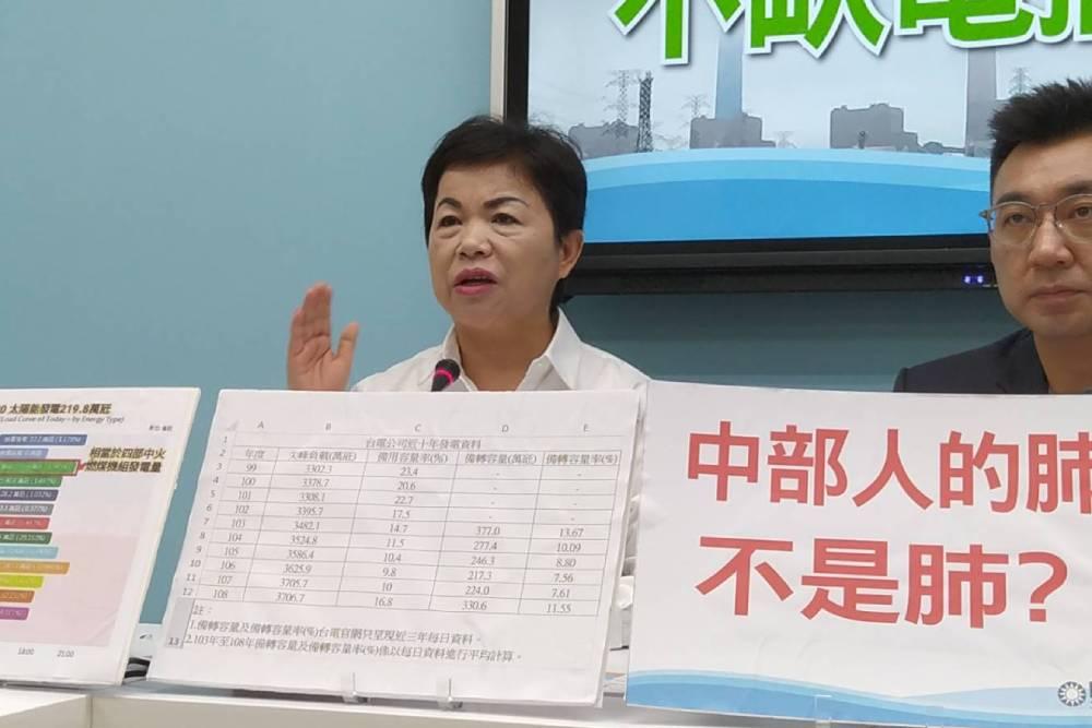 當台中人肺塑膠做的?國民黨團控蔡政府重啟中火霸凌地方