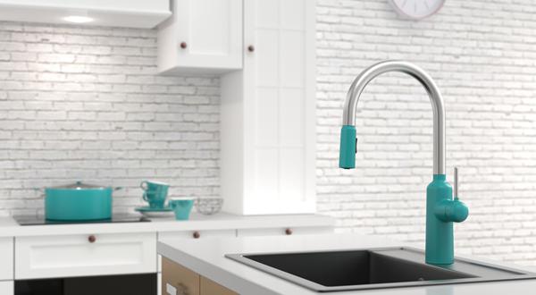 廚房龍頭也可以很時尚 馬卡龍色系水龍頭為廚房注入新活力