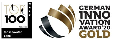 Hansgrohe集團續第三次榮獲百大創新公司獎項,亦榮獲「德國創新獎-金獎」