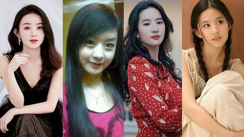 楊冪戴牙套青澀照曝光!10位流量女星的早年舊照,劉亦菲依然仙,楊紫、趙麗穎變化好大