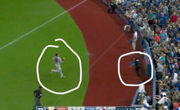 與棒球選手相撞,美國警官臉紅紅