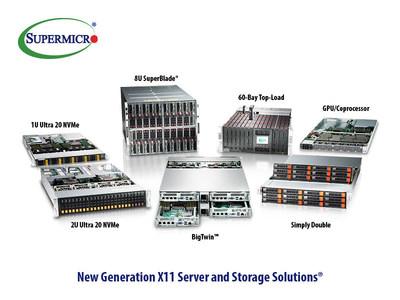 美超微推出全新X11系列服務器和存儲解決方案