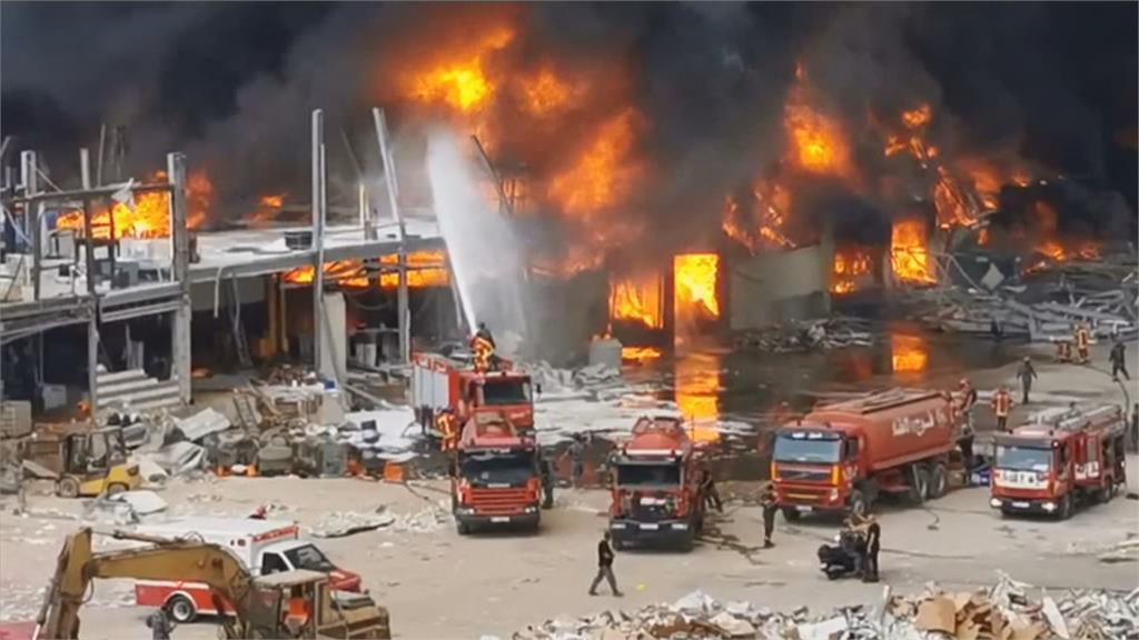 大爆炸一個月後 貝魯特港又傳重大火警