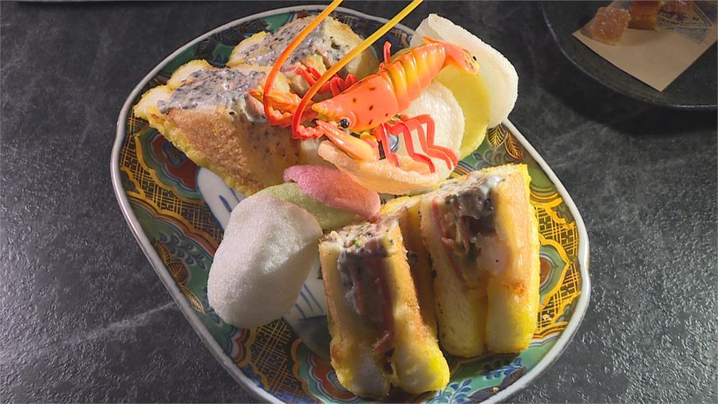 辦桌菜龍蝦三明治 抹上松露白醬多層次