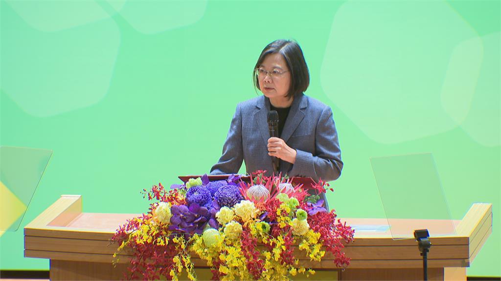 蔡出席健康論壇 批中國以政治因素破壞防疫