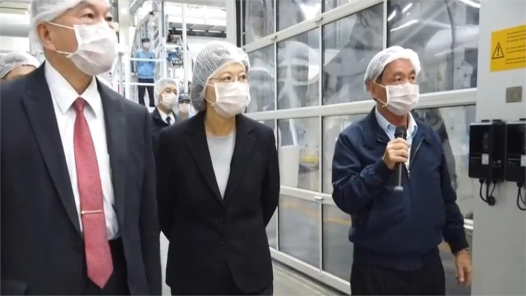 訪口罩原料「不織布」工廠 蔡總統謝企業支援防疫