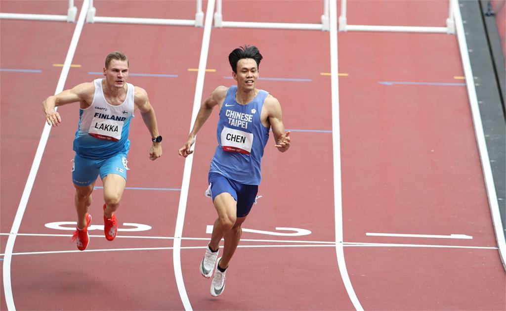 東奧/陳奎儒跨欄準決賽13秒57無緣晉級決賽