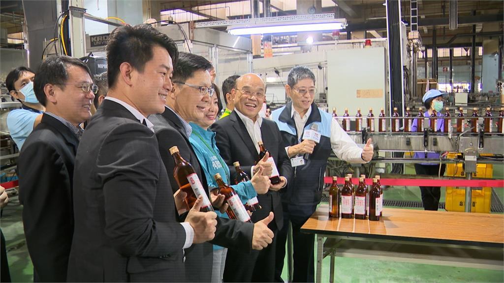 6酒廠每月生產4百萬瓶酒精 蘇揆:絕不缺貨