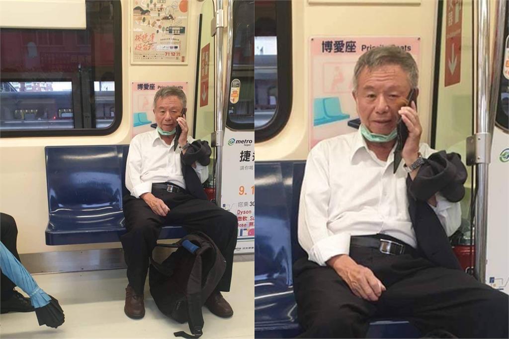 快新聞/楊志良「捷運脫口罩講電話」照片曝光! 網傻眼怒轟:防疫SOP呢
