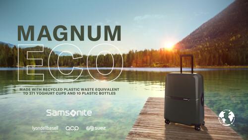 Samsonite全球專利Recyclex™循環再生技術 環保行李箱 — Magnum Eco