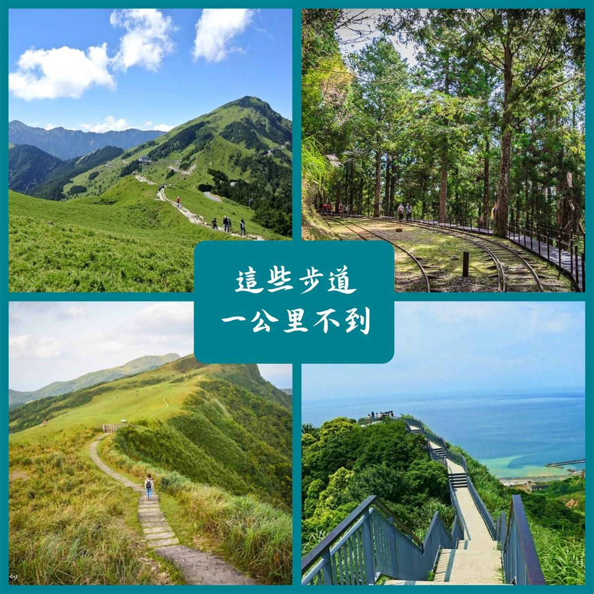 這些步道一公里不到!全台輕鬆走步道,不用揮汗如雨也能賞美景!