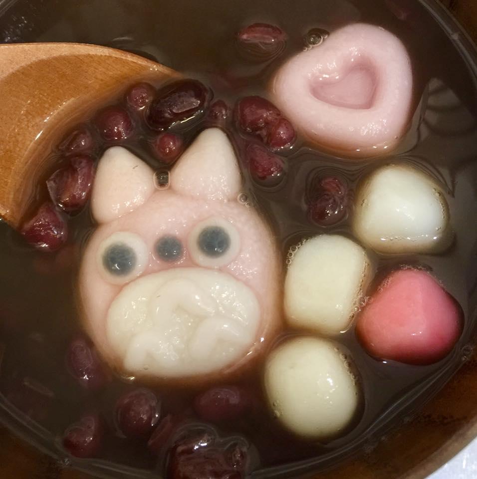 泡在紅豆湯裡的龍貓來了!一口吃下萌萌造型湯圓吧 ─ 高雄舊城小旅行